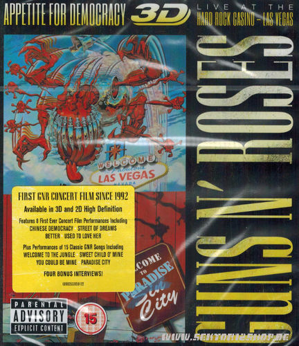 "Guns N` Roses ""Appetite For Democracy"" 3D Blu-ray"