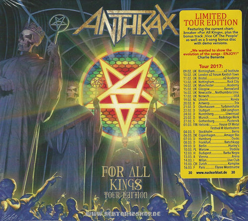 "Anthrax ""For All Kings"" CD (Tour Edition)"