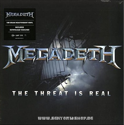 "Megadeth ""The Threat Is Real"" 12"" Vinyl-Single"
