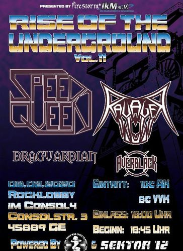 """Rise Of The Underground - Vol. 11"" - Concert-Ticket"