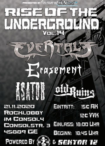 """Rise Of The Underground - Vol. 14"" - Concert-Ticket"