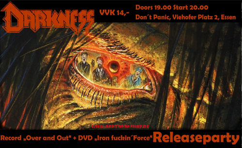 "Darkness ""Over And Out-Release-Show"" Concertticket (12.11.2020)"